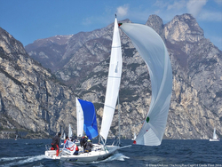 J/80s sailing Russia Yachting Cup- Lake Garda, Italy