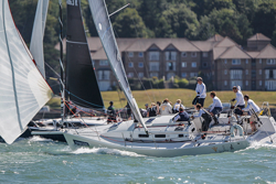 J/109s sailing Cowes Week