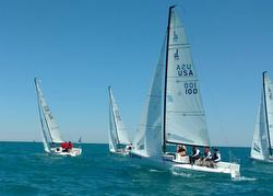 J/70s sailing off Chicago