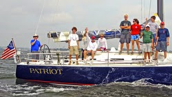 J/122 Patriot sailing with American YC Junior Big Boat Team