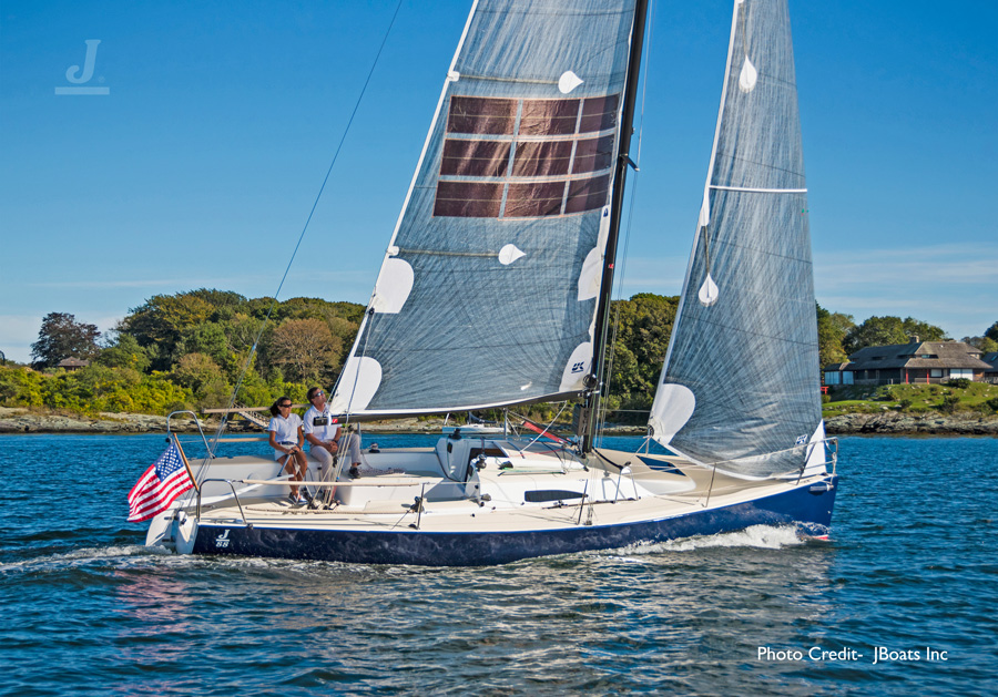 J/88 Oceanvolt- sailing off Newport, RI- Narragansett Bay