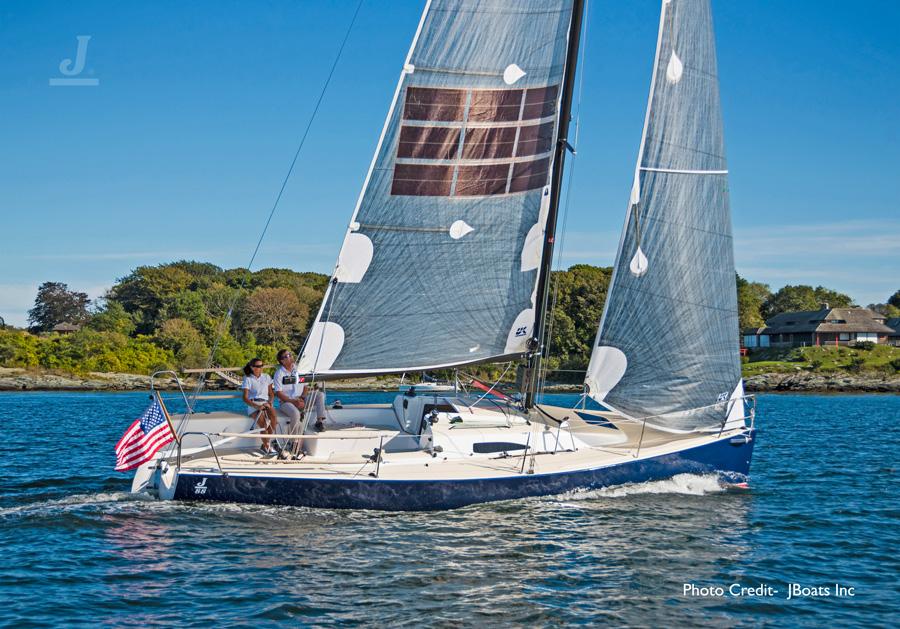 J/88 Oceanvolt- sailing off Newport, RI- Narragansett Bay