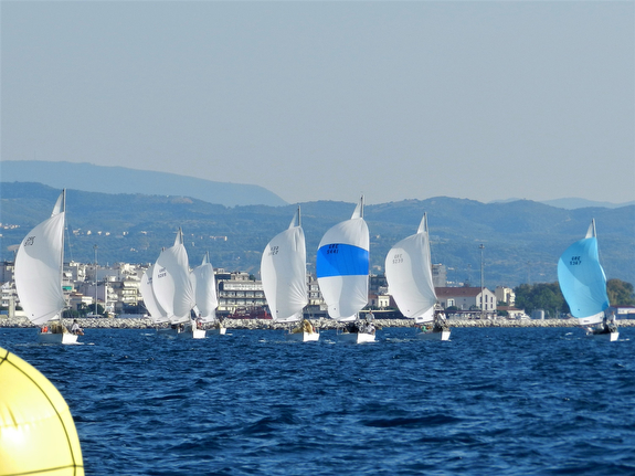 J/24s sailing off Athens, Greece