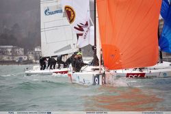 Russian J/70s sailing off Sochi in league regatta