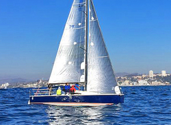 J/88 sailing fast off Chile