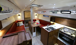 J/112E interior- sport cruising sailboat