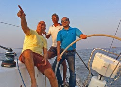 Nandan and friends sailing J/122 off Bombay, India