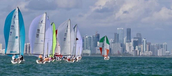 J/70s sailing in Miami/ Biscayne Bay