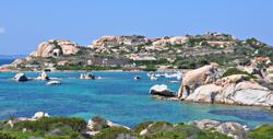 J24 sailing off Sardinia, Italy
