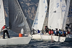 J/24s sailing on Lake Garda, Italy