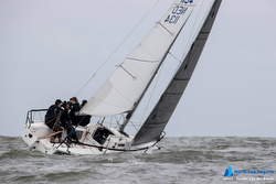 J/80 sailing North Sea regatta