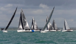 J/111's sailing World Championship off Cowes, England