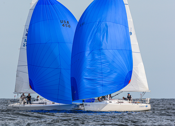 J/105s sailing downwind