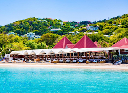 St Barth's famous beach club- Nikki Beach!