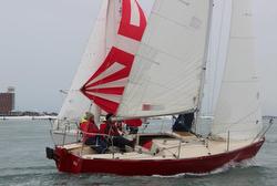 J/24s sailing off Boston, MA