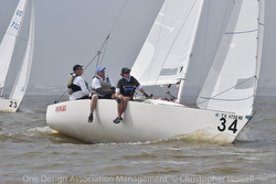 J/22 Youth team sailing