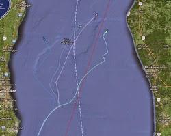 J/111 tracks in Mackinac Race