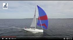 J/112E aerial sailing video