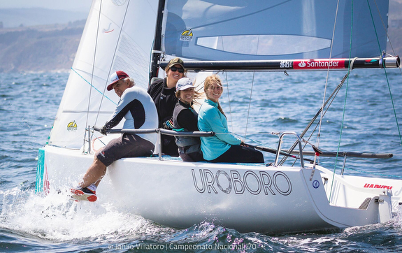 J/70 women sailors in Chile