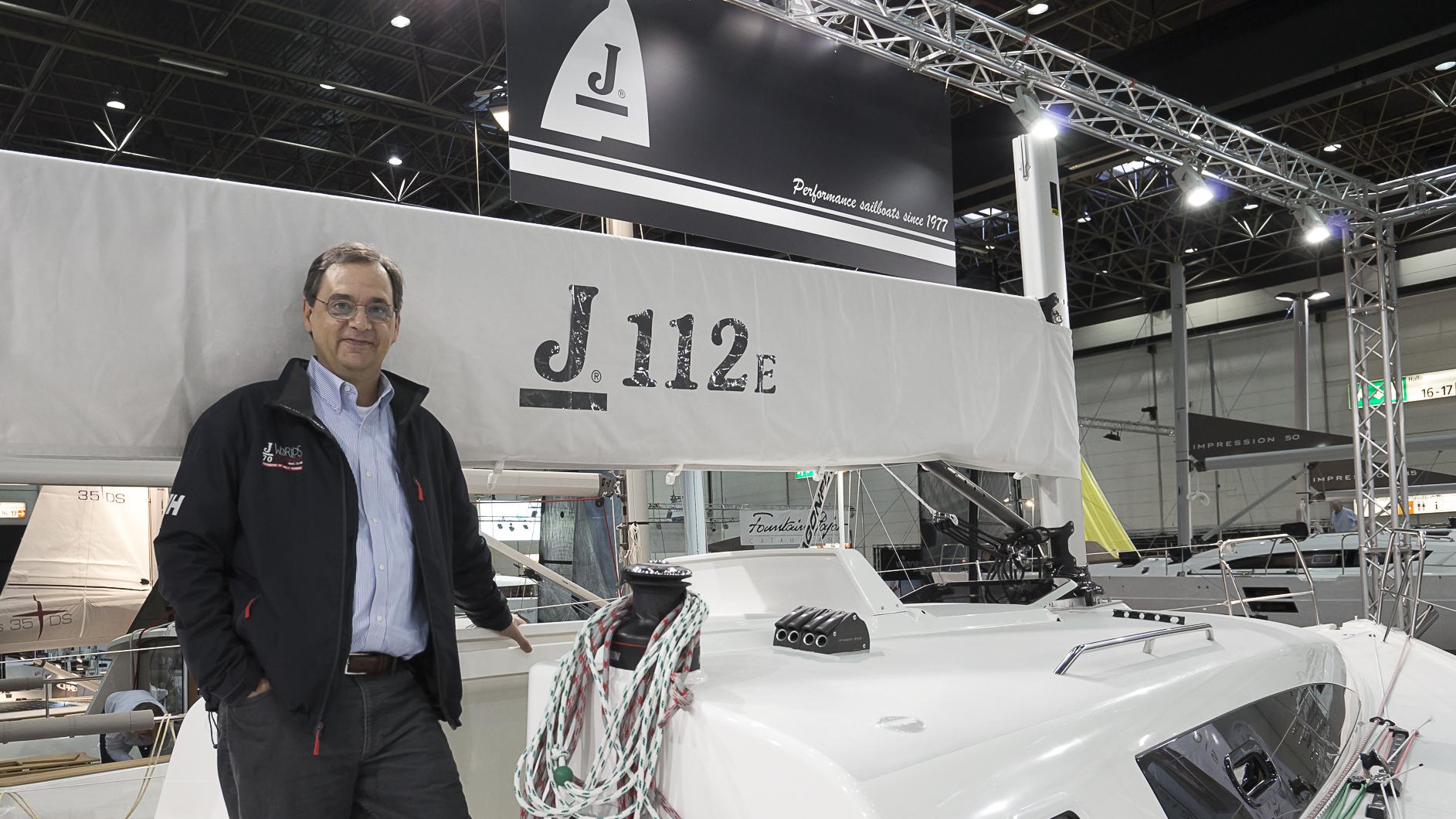 J/122E designer- Alan Johnstone at Boot Dusseldorf Boat Show, Germany