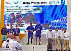 J/70 Kiel Week winners on podium