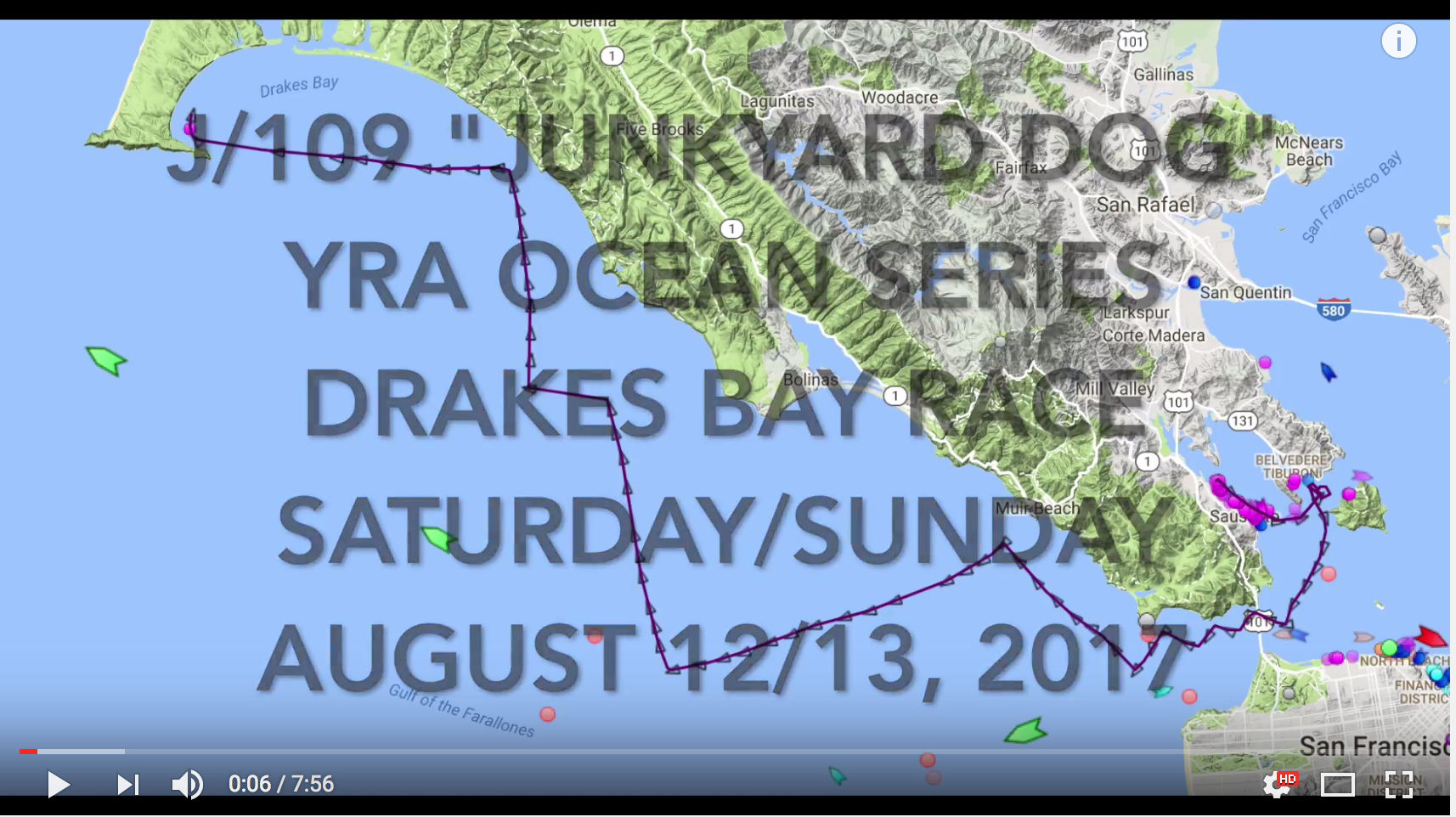 J/109 Junkyard Dog sailing video