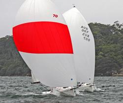 J/70s sailing off Sydney, Australia