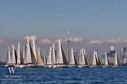 J/105 sailboats- sailing North Americans off Toronto, Ontario
