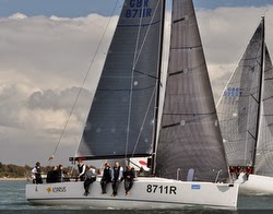 J/111 sailing on Solent series