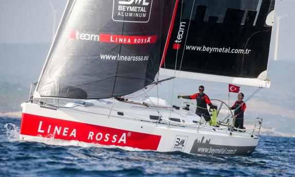 J/122 Linea Rossa sailing Rolex Middle Sea Race