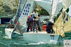 J/24 Italy sailing in Europeans