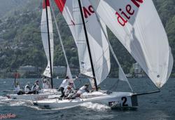 J/70s sailing Swiss lakes
