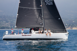 J/125 Warrior sailing off Santa Barbara