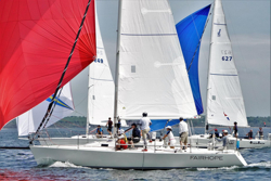 J/105s sailing AYC Fall series