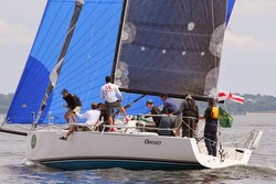 J/111 sailing in New York YC regatta