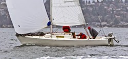 J/27 sailing Vashon Island race off Seattle