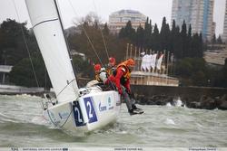 Russian J/70 sailing upwind