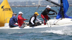 J/70 Bruce Golison sailing Long Beach