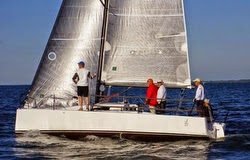 J/88 family speedster sailing Rochester, New York