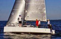 J/88 family speedster sailing Rochester, New York