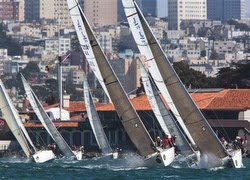 J/105s sailing Rolex Big Boat Series in San Francisco