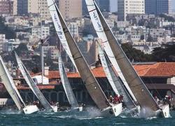 J/105s sailing Rolex Big Boat Series in San Francisco