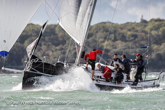J/109 sailing downwind