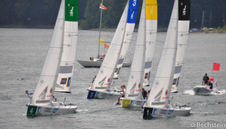 German J/70 Junior sailing league action