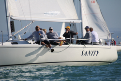 J/105 Sanity sailing San Diego Hot Rum series