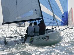 J/70s sailing J.P. Morgan Round Island Race- Isle of Wight, England