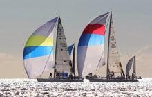 J's sailing under spinnaker