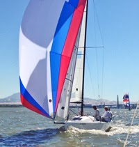 J/70 sailing Delta Ditch race