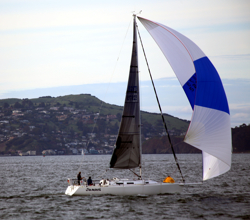 J/120 sailing San Francisco