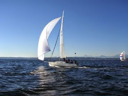 J/105 sailing Puget Sound off Seattle